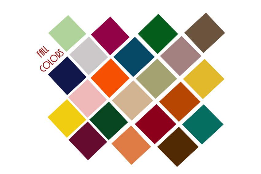 Fall Colors Chart The Fashion Folks