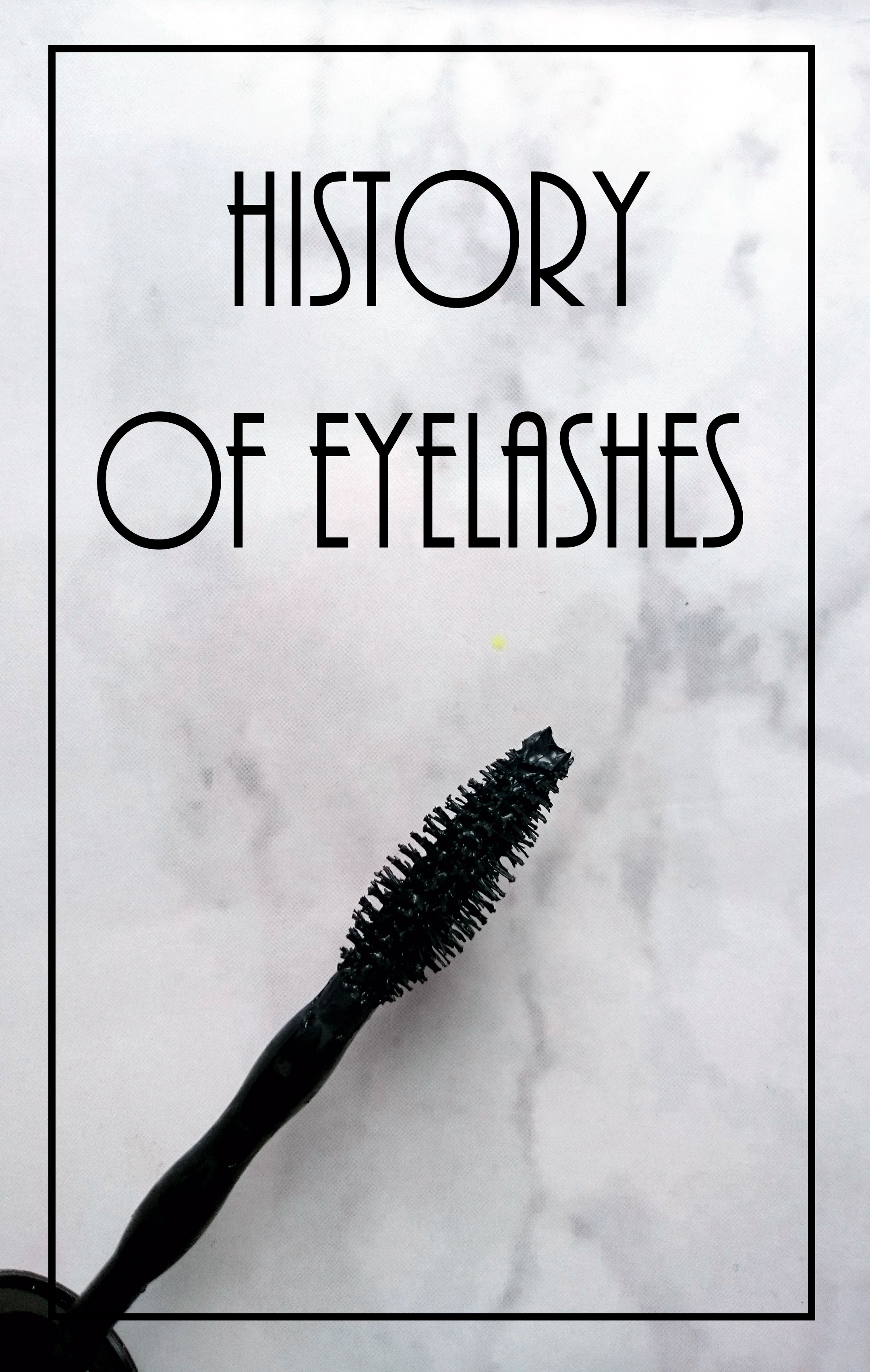 history of eyelashes