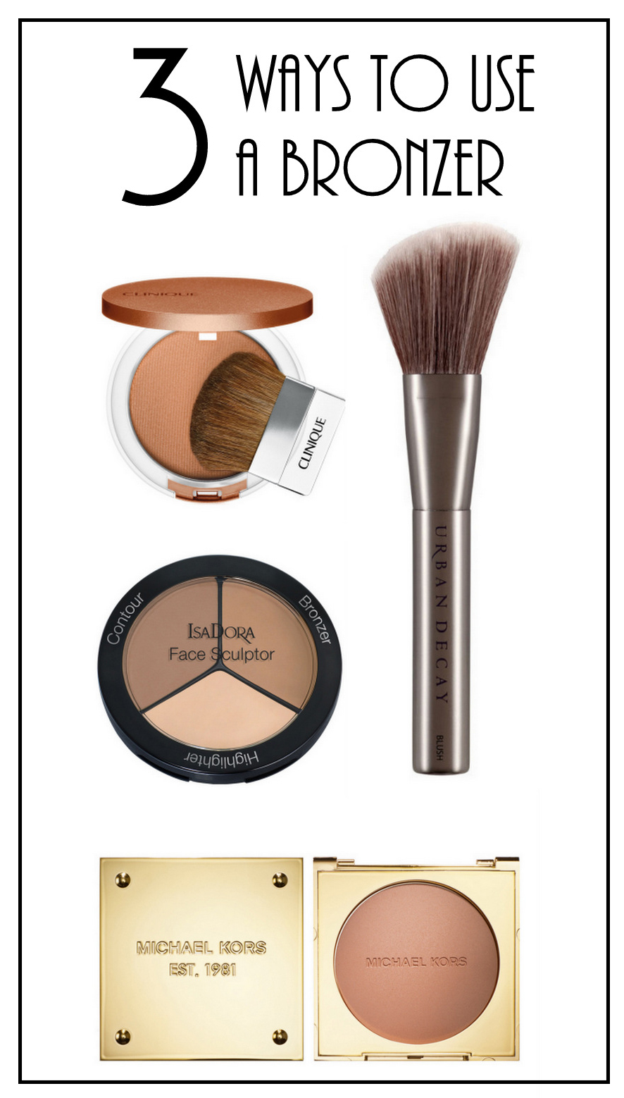 3 ways to use bronzer the fashion folks ways to use bronzer ccuart Images