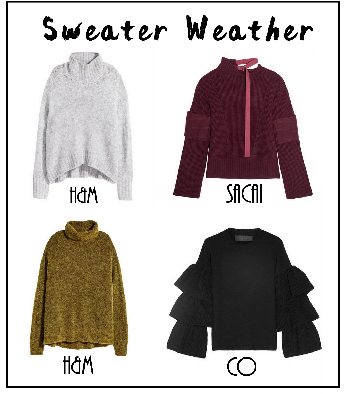 Sweater Weather + Trendy Sweater Clothes for fall and winter 2016/2017 | The Fashion Folks