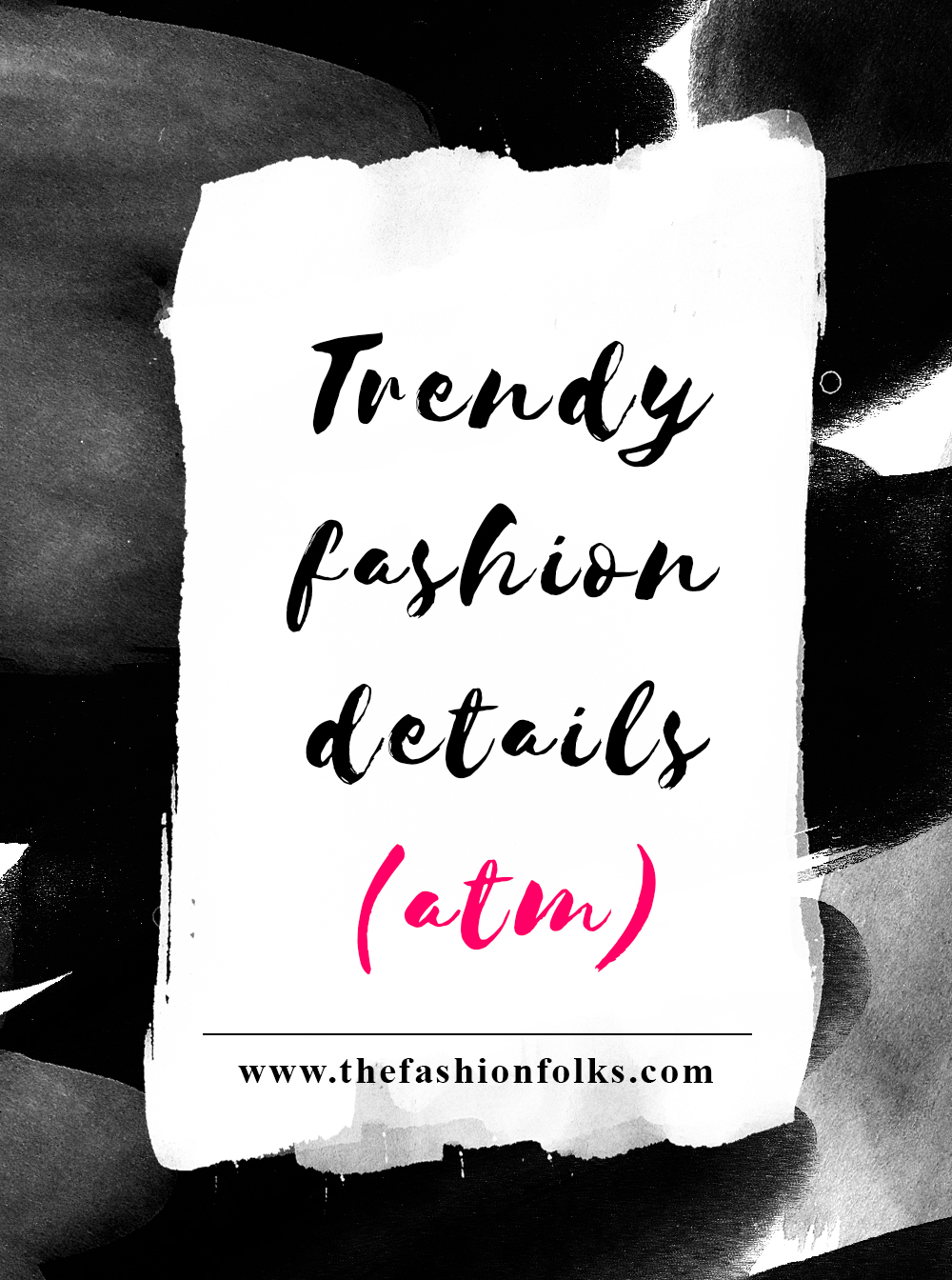 Trendy Fashion Details ATM: Fishnet tights with denim, embroidered clothes, mini-buttons on blouses and statement sleeves | The Fashion Folks