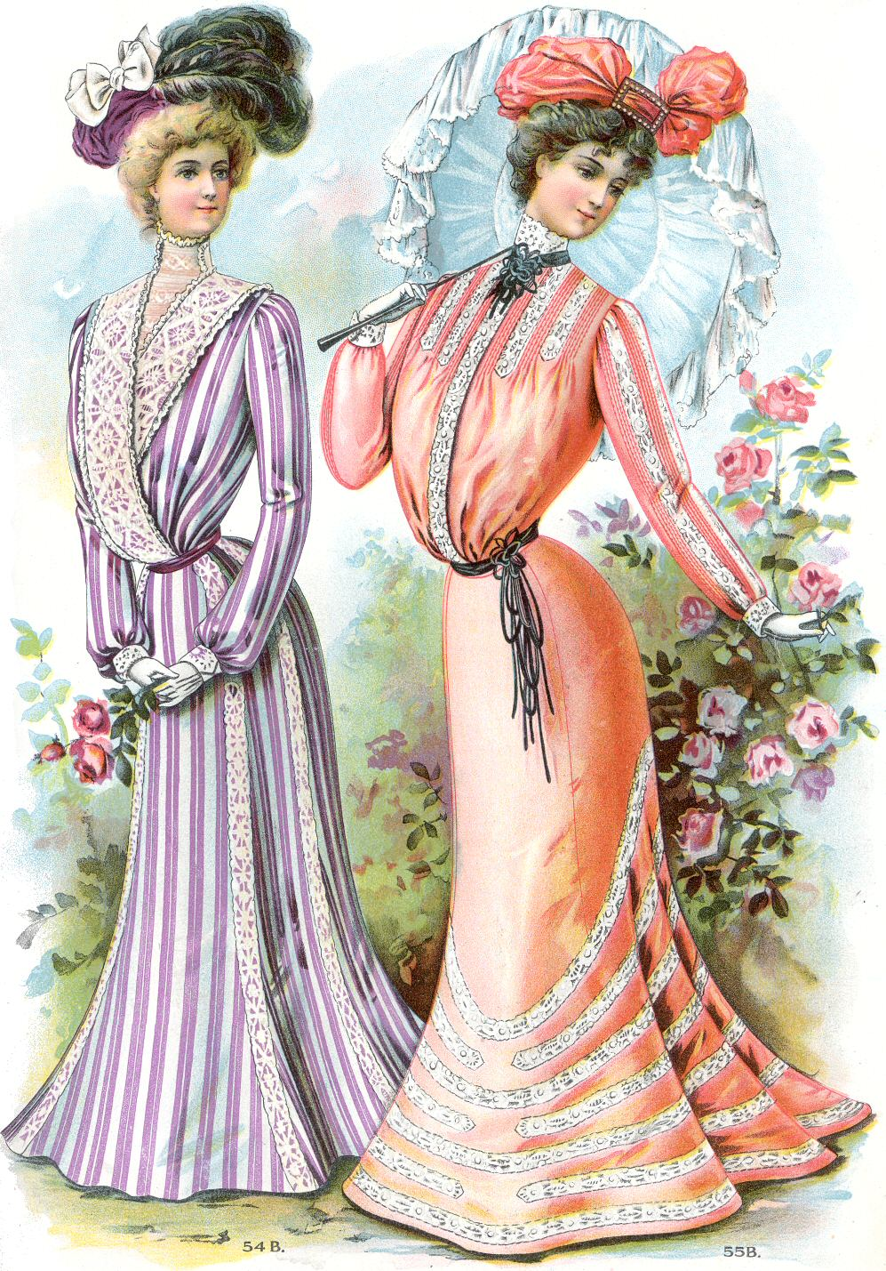 20th century fashion history 1900 - 1910 | The Fashion Folks
