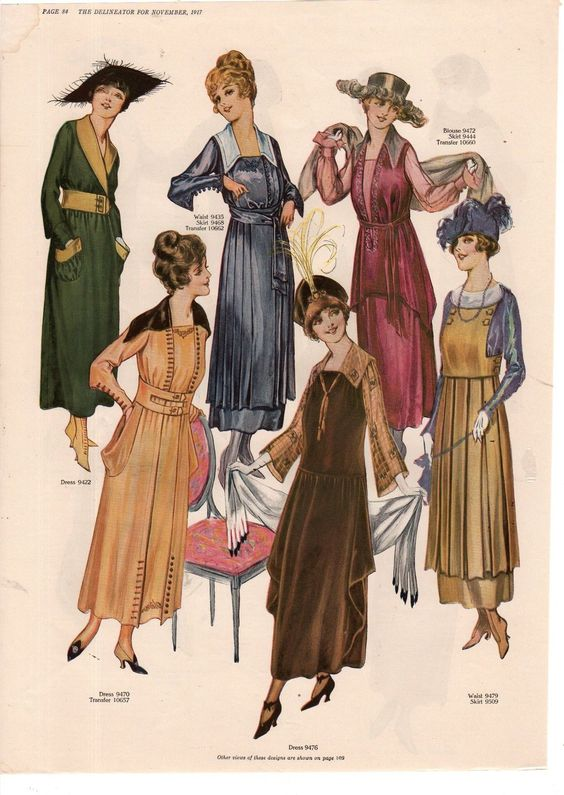 20th Century Fashion History 1910 1920 The Fashion Folks