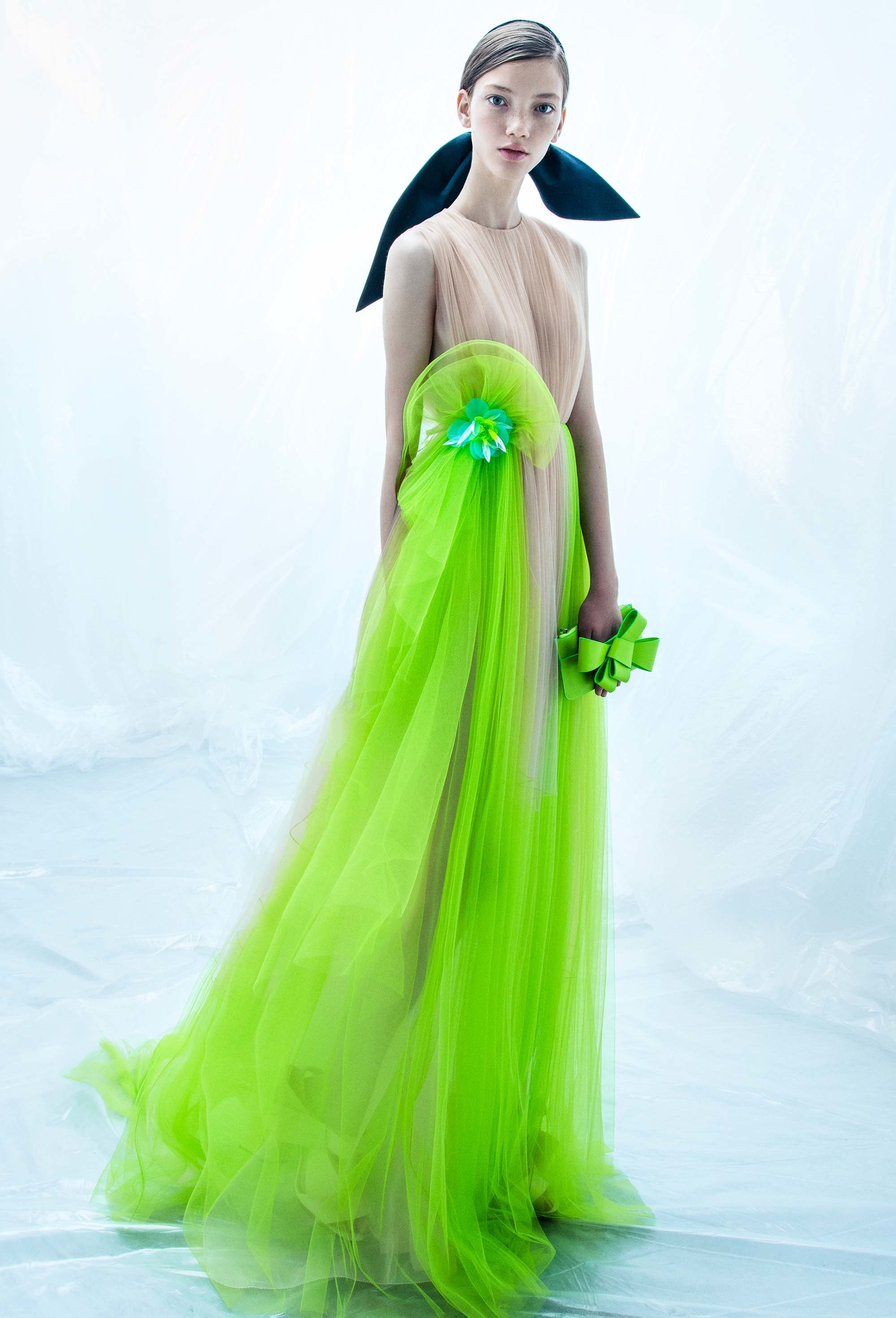 Delpozo dress resort collection lime green dress