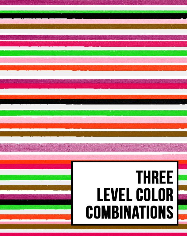 three level color combinations