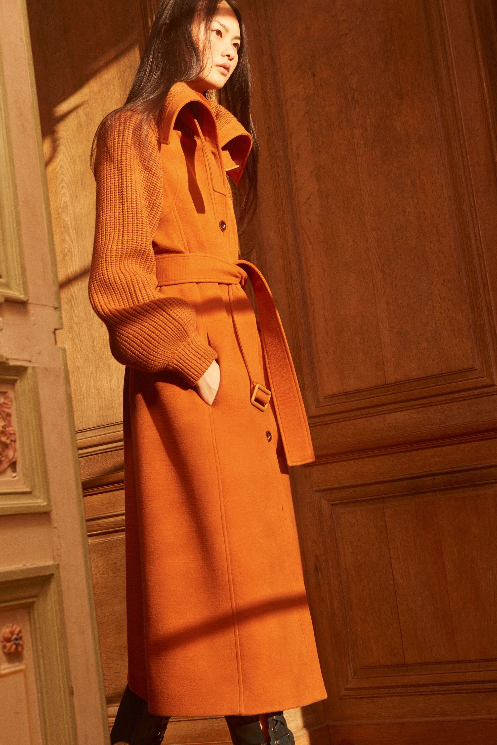Chloé pre fall 2017 - how to work orange fall 2017