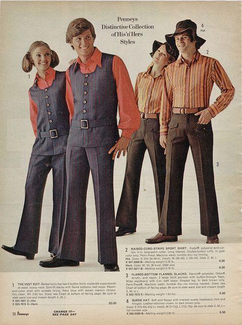 Unisex Fashion 1970s