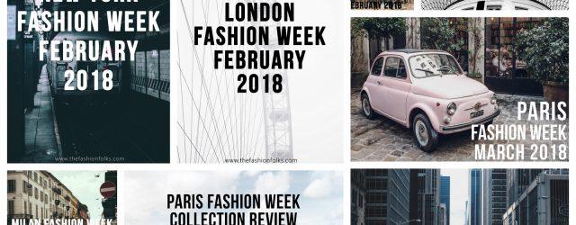 summary of fashion weeks winter 2018