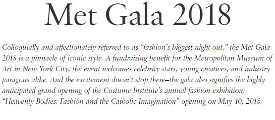 Met Gala 2018 Vogue