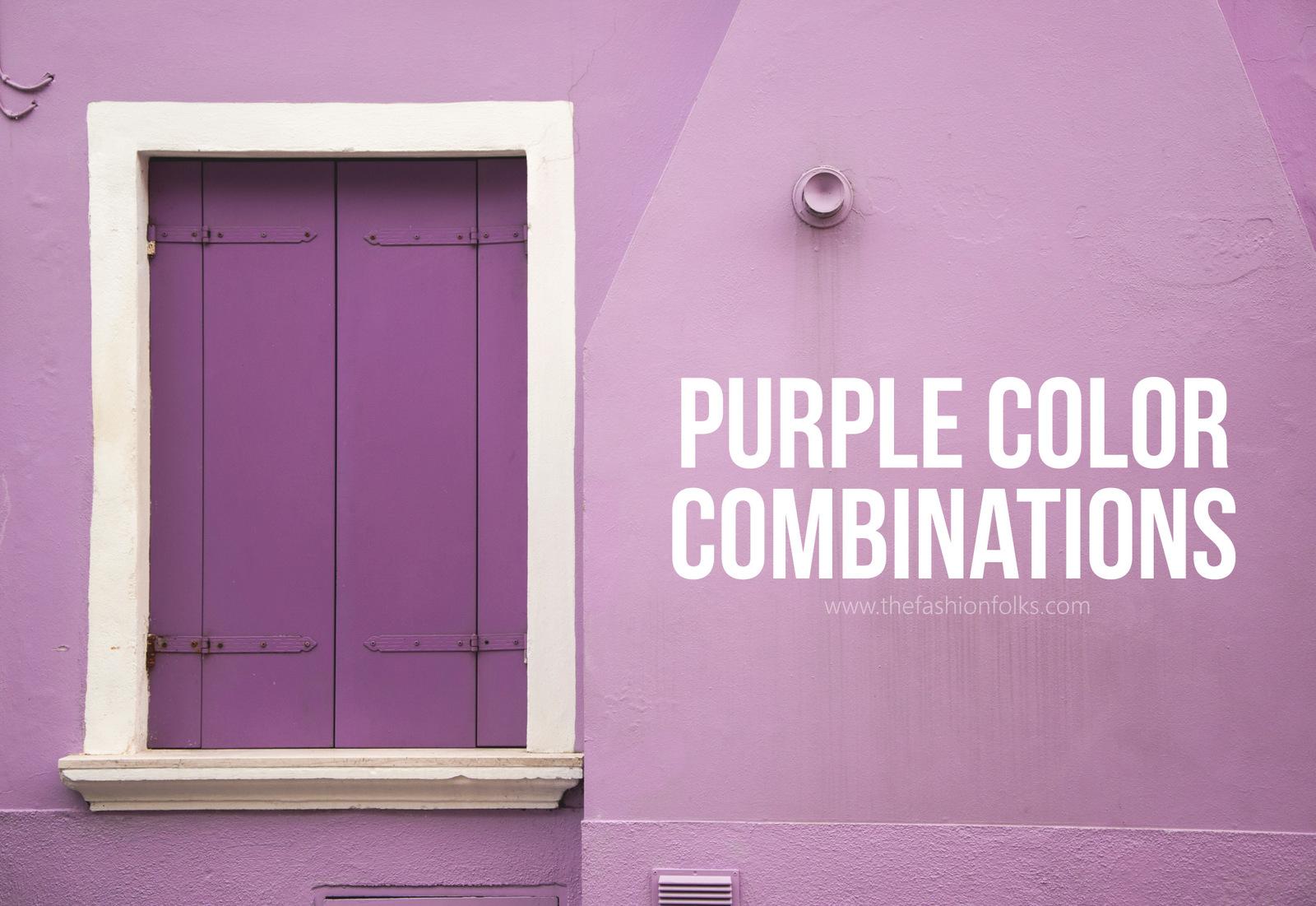 Purple Color Combinations 2018