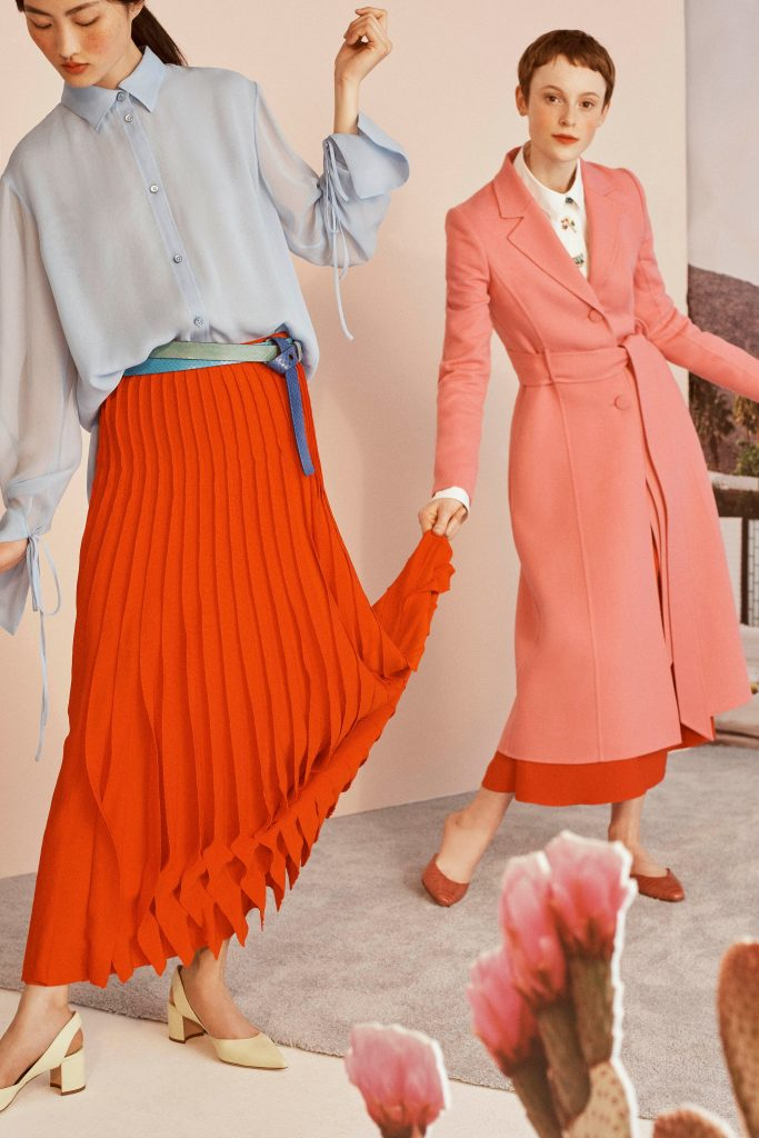 Pleated Skirt Spring 2019 Fashion Trends 2019 Spring fashion spring outfits red skirt