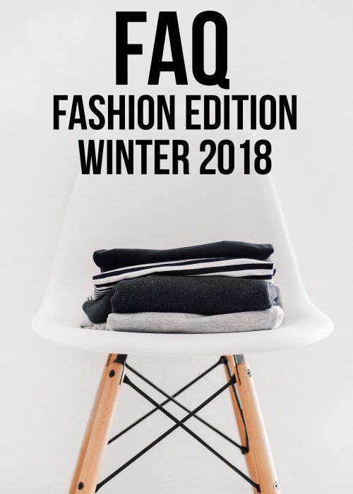 FAQ Fashion Edition Winter 2018