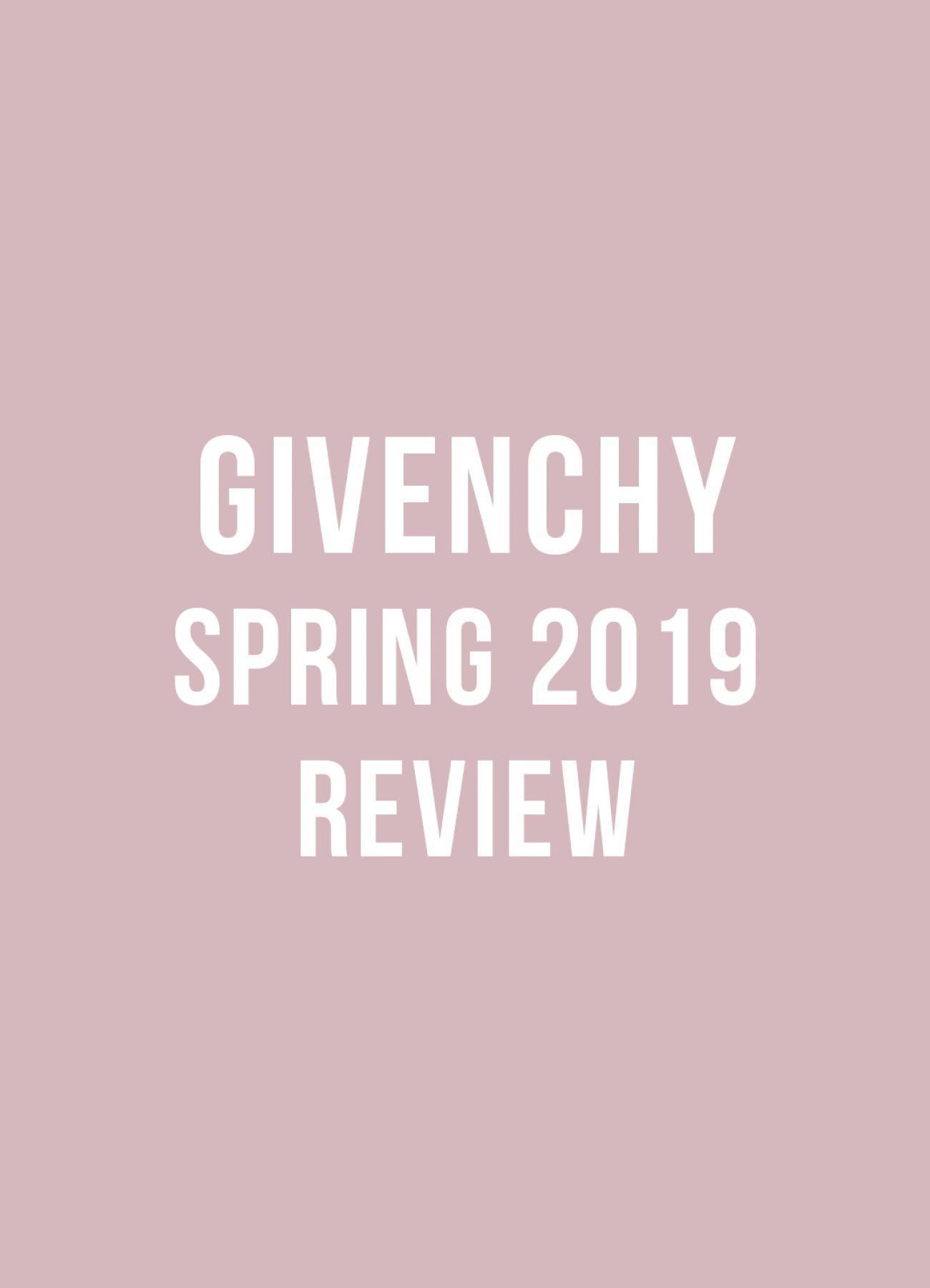 Givenchy spring 2019