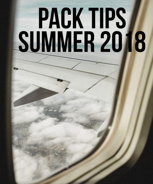 Pack Tips Summer 2018