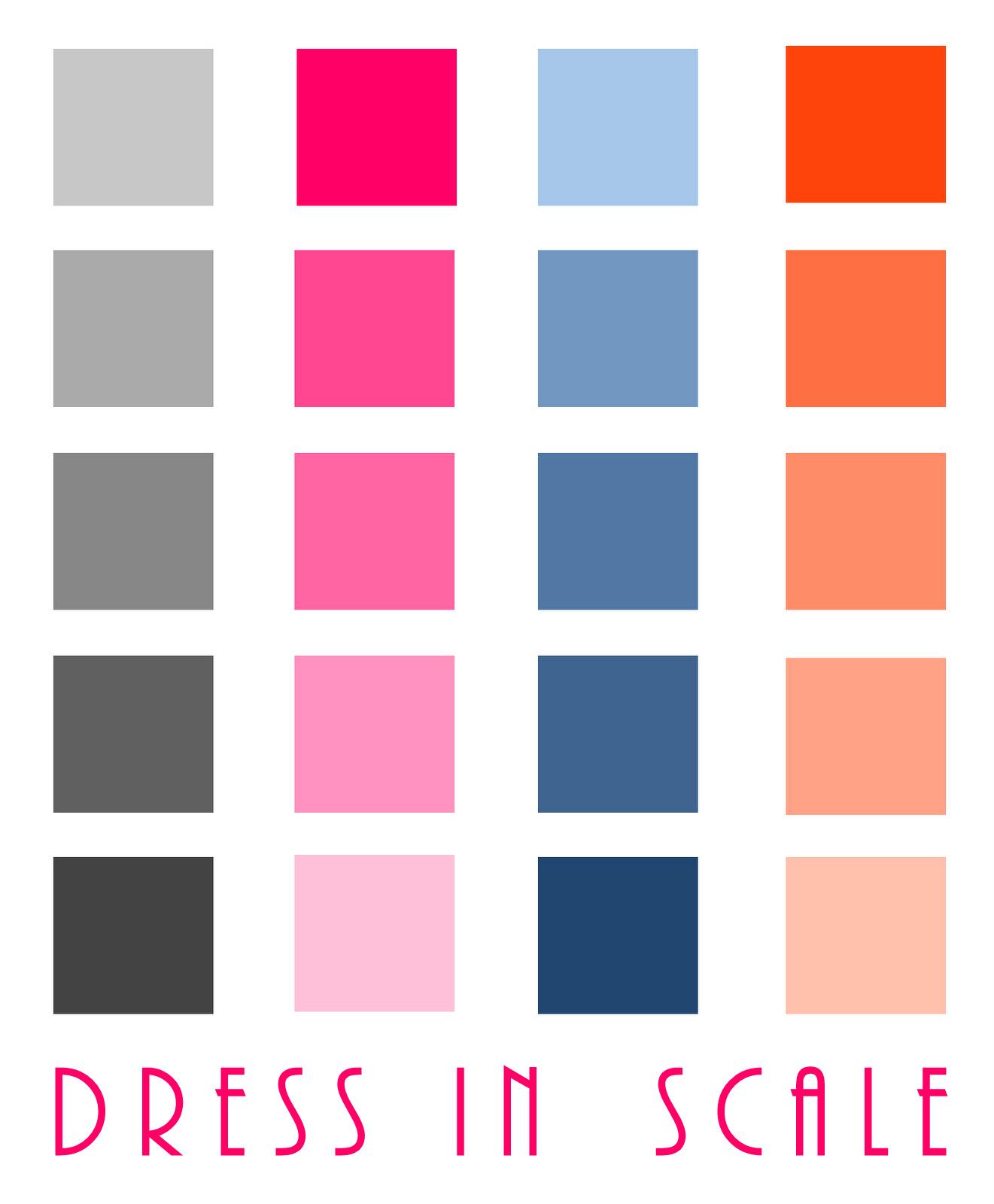 dress in scale