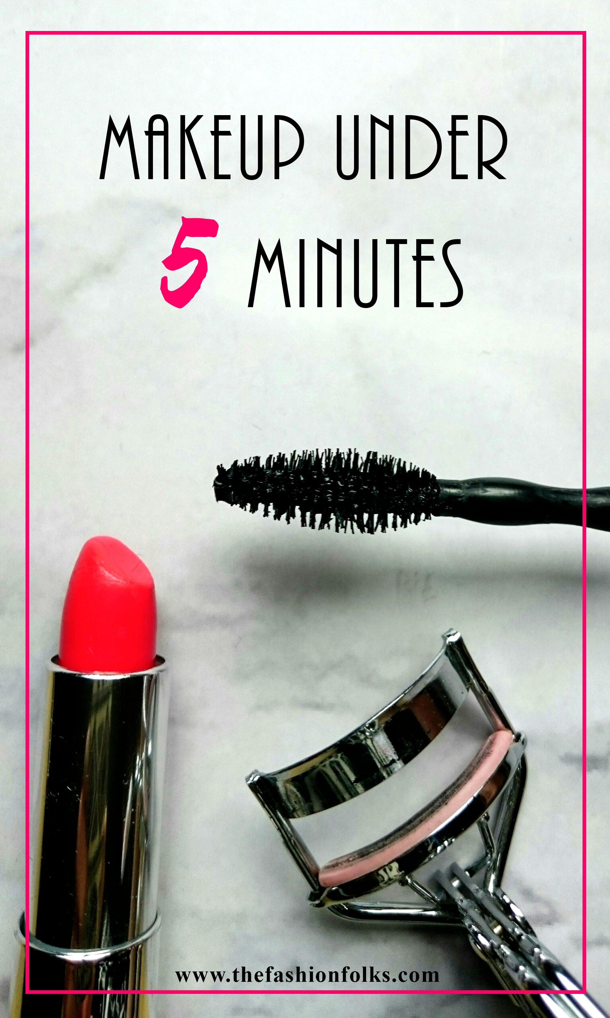 Makeup Under 5 Minutes + Makeup Inspiration | The Fashion Folks