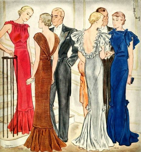 20th Century Fashion History 1930 1940 The Fashion Folks