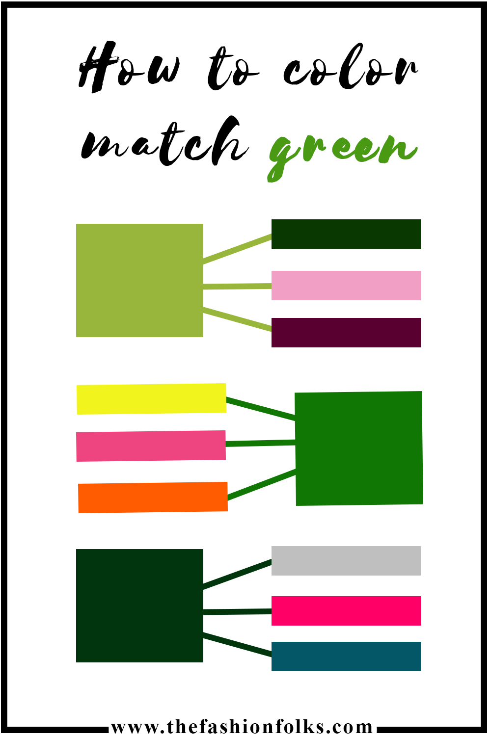 How To Color Match Green, color of the year 2017 | The Fashion Folks