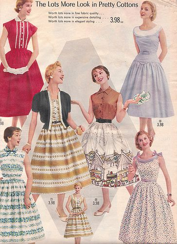 20th century fashion history 1950-1960