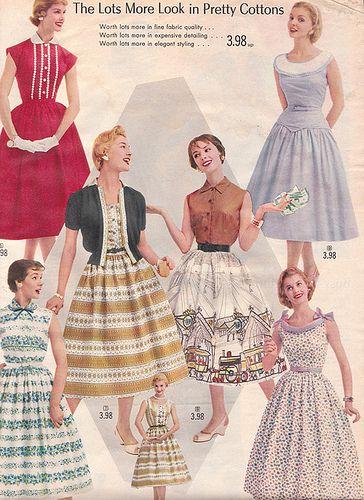 20th century fashion history 1950-1960