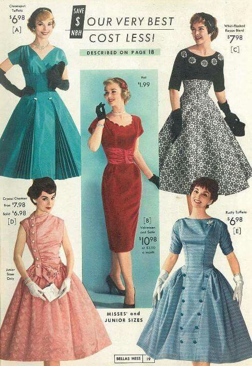 20th Century Fashion History 1950 1960 The Fashion Folks