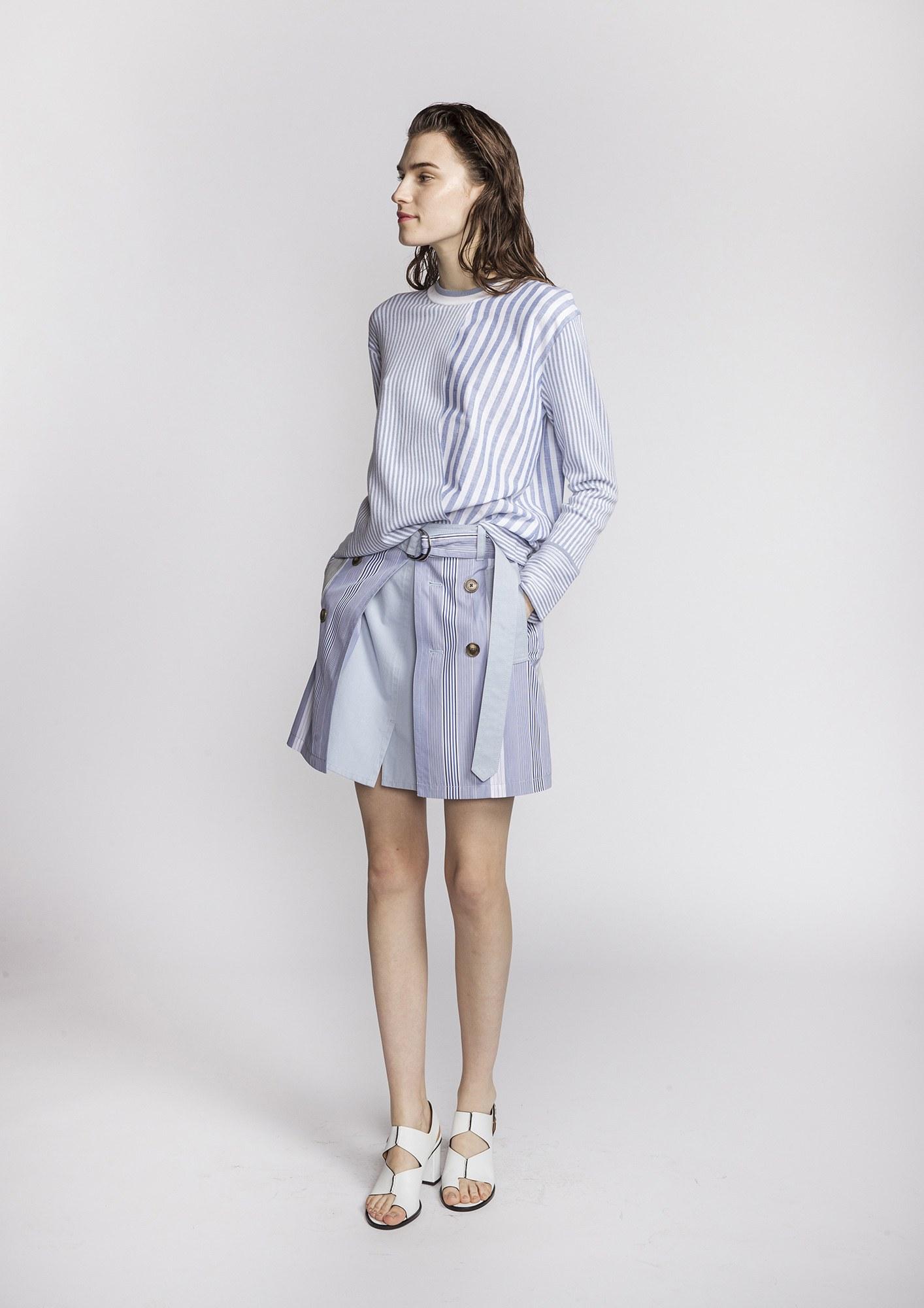 Blue/White Striped Shirt 2017