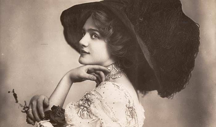 Fashion History of Details: The Merry Widow Hat (1900s)