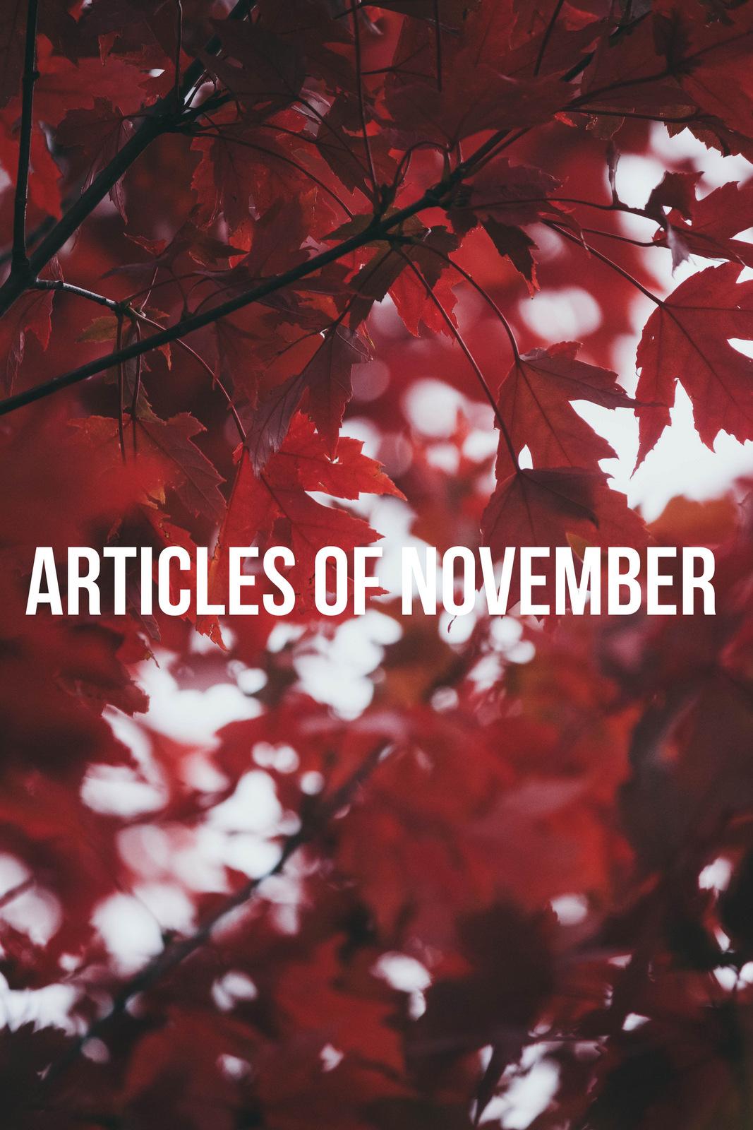 Articles of November 2018
