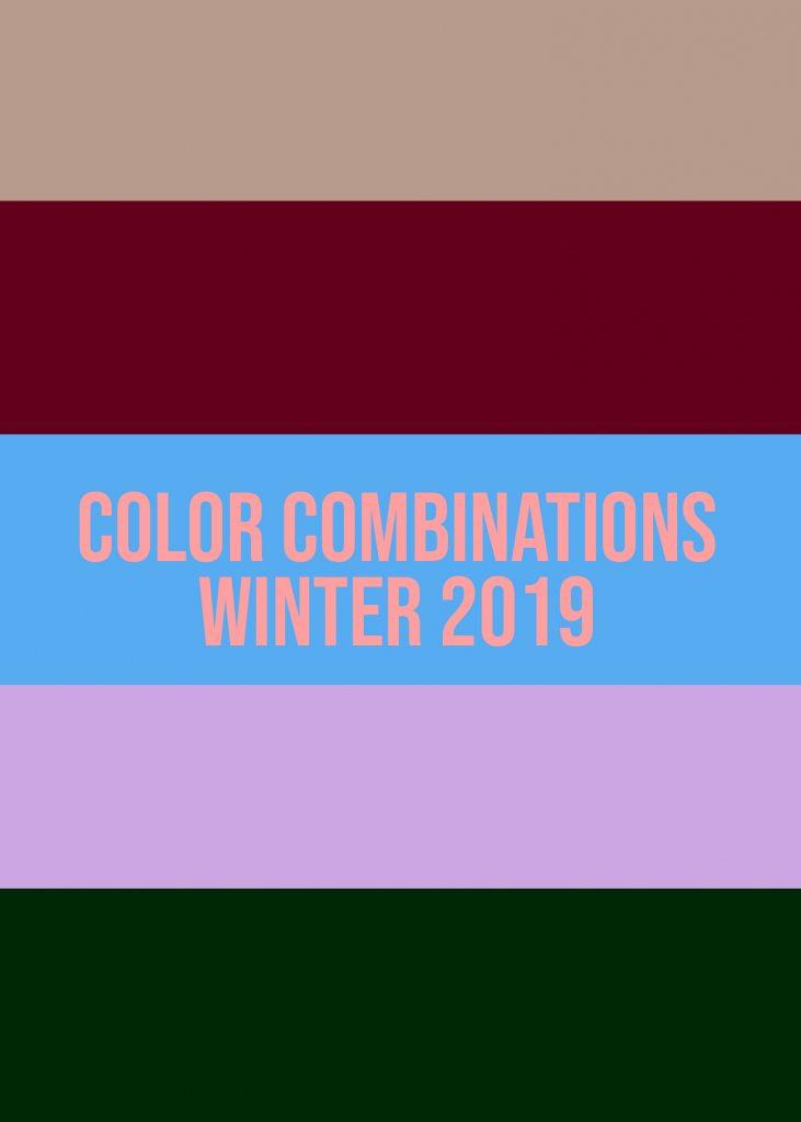 Color Combinations Winter 2019