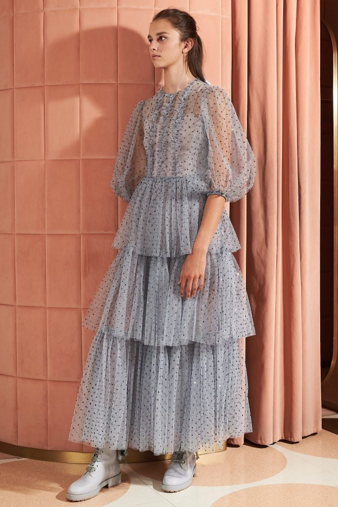 Red Valentino Resort 2020 | Blue dress polka dots