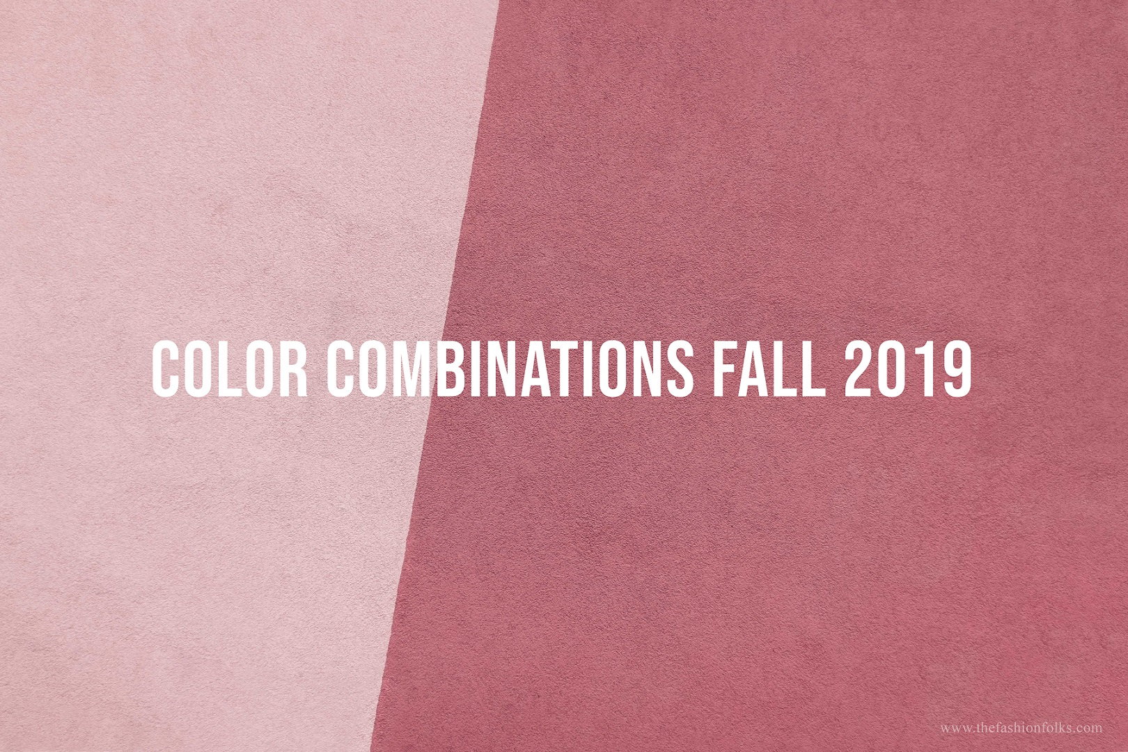 Color Combinations Fall 2019