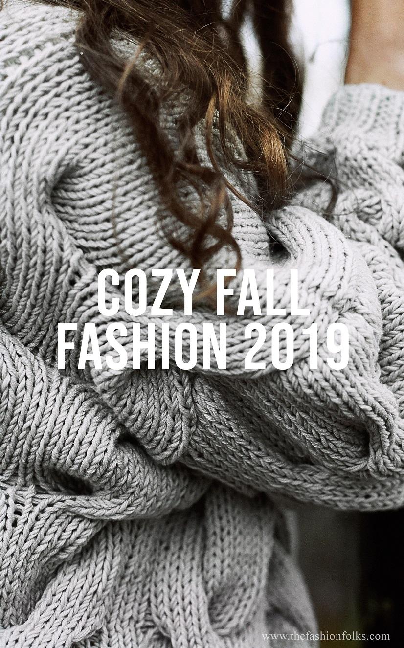 Cozy Fall Fashion 2019 Knitwear Knitted Sweater Fashion Inspiration Fall 2019