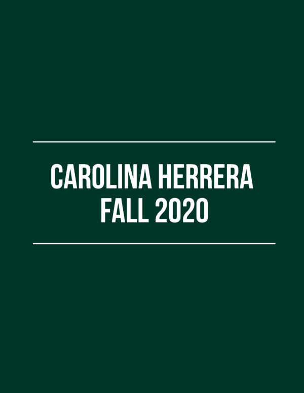Carolina Herrera Fall 2020 – Review