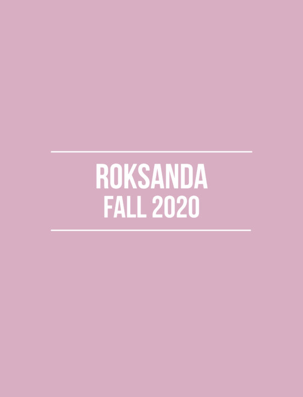 Roksanda Fall 2020 – Review
