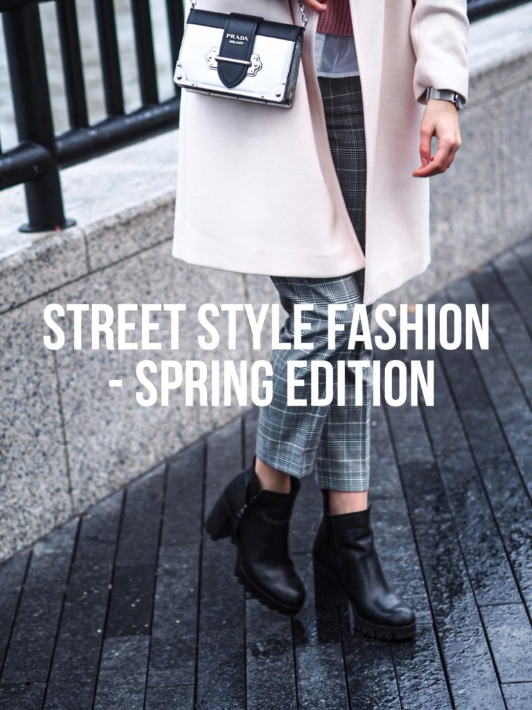 Street Style Boots Pink Coat Outfit