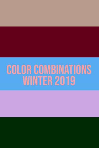 Color Combinations Winter 2019